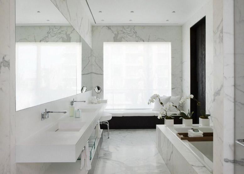 Sơn giả đá giúp phòng tắm hiện đại hơn