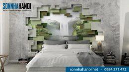 Sơn giả bê tông phòng ngủ chị Lan - Vincon Skylake, Phạm Hùng