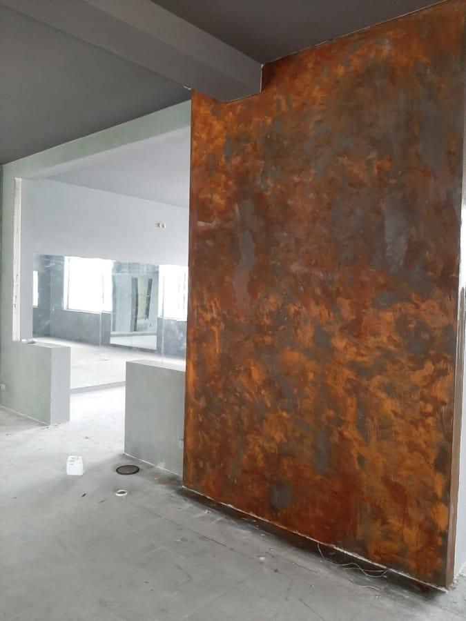 Sơn ri set bức tường điểm nhấn cửa ra vào