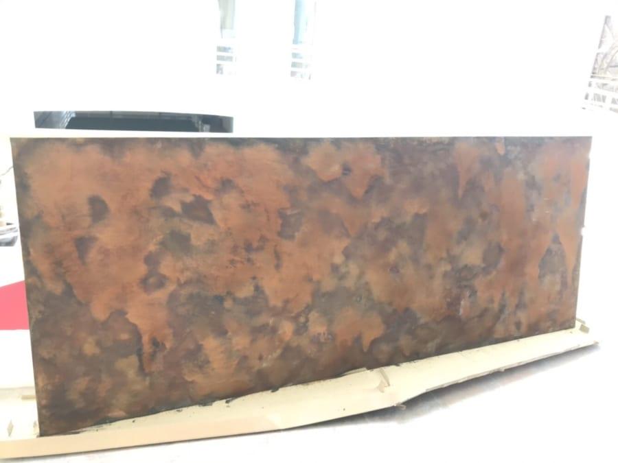 Sơn ri set bức tường điểm nhấn văn phòng làm việc